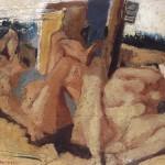 Al mare(1945)Olio su tavola