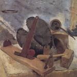 Natura morta con fondo marino(1933)Olio su tvola